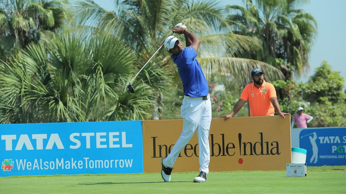 Golf: Chouhan cards steady 69 to stretches his lead to seven shots