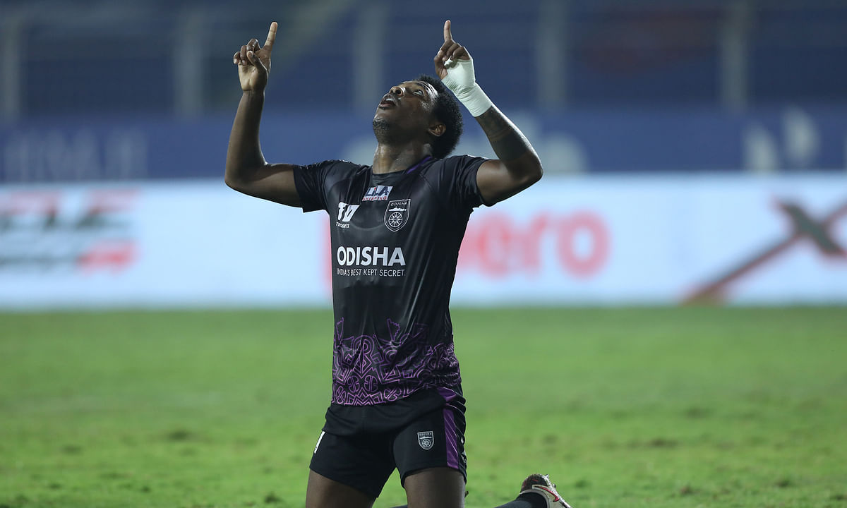 Diego Mauricio's double for Odisha FC impaired Kerala Blasters' chances of making the playoffs in their match in the Indian Super League (ISL) at Fatorda, Goa on February 11, 2021.