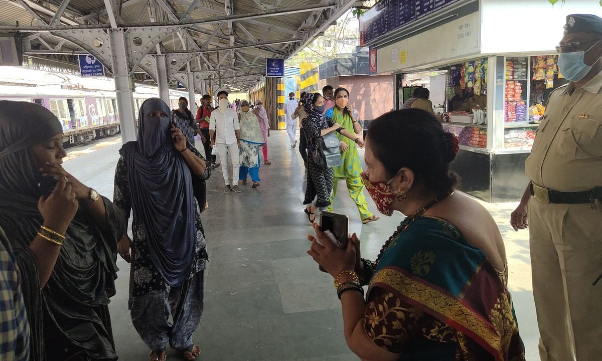Mumbai Mayor Kishori Pednekar appealing to people to wear face masks, maintain social distancing and follow other COVID-19 protocols in public interest, in Mumbai on February 17, 2021.