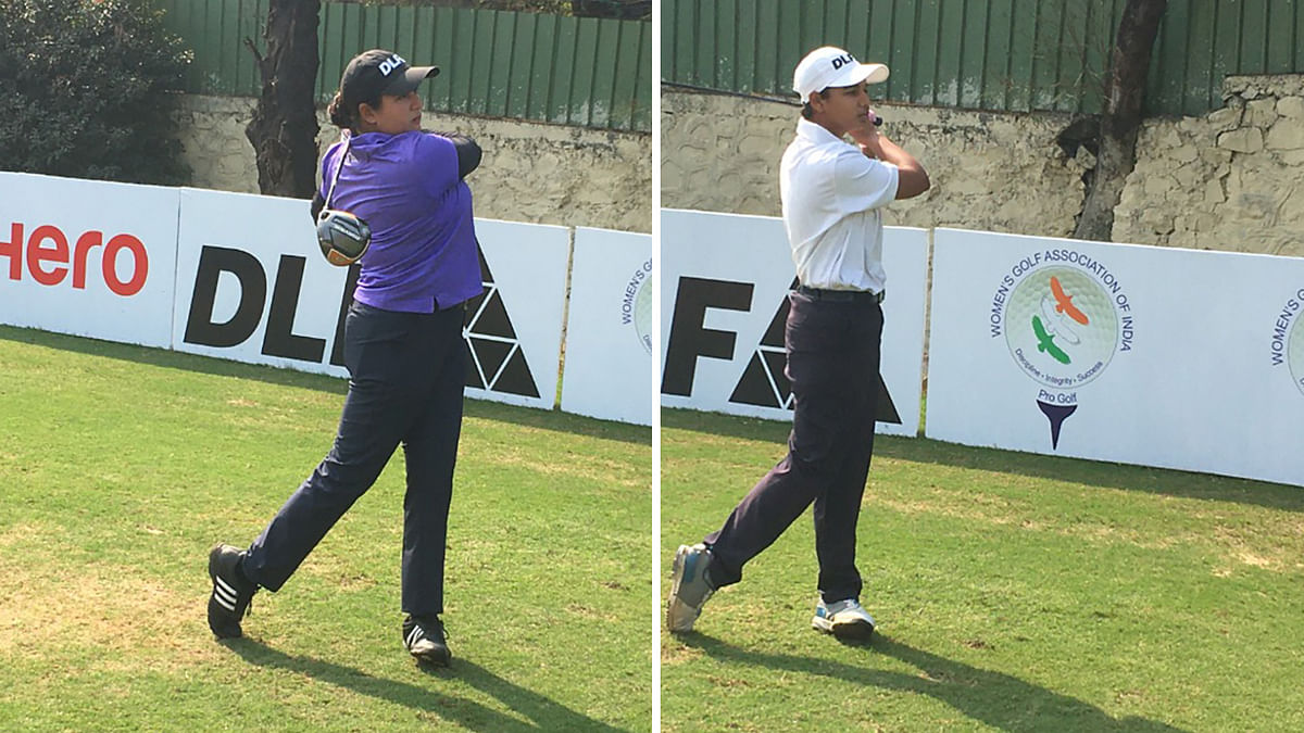Golf: Amandeep, Hitaashee survive  double bogey scare, share lead after Round 1 of Hero WPGT