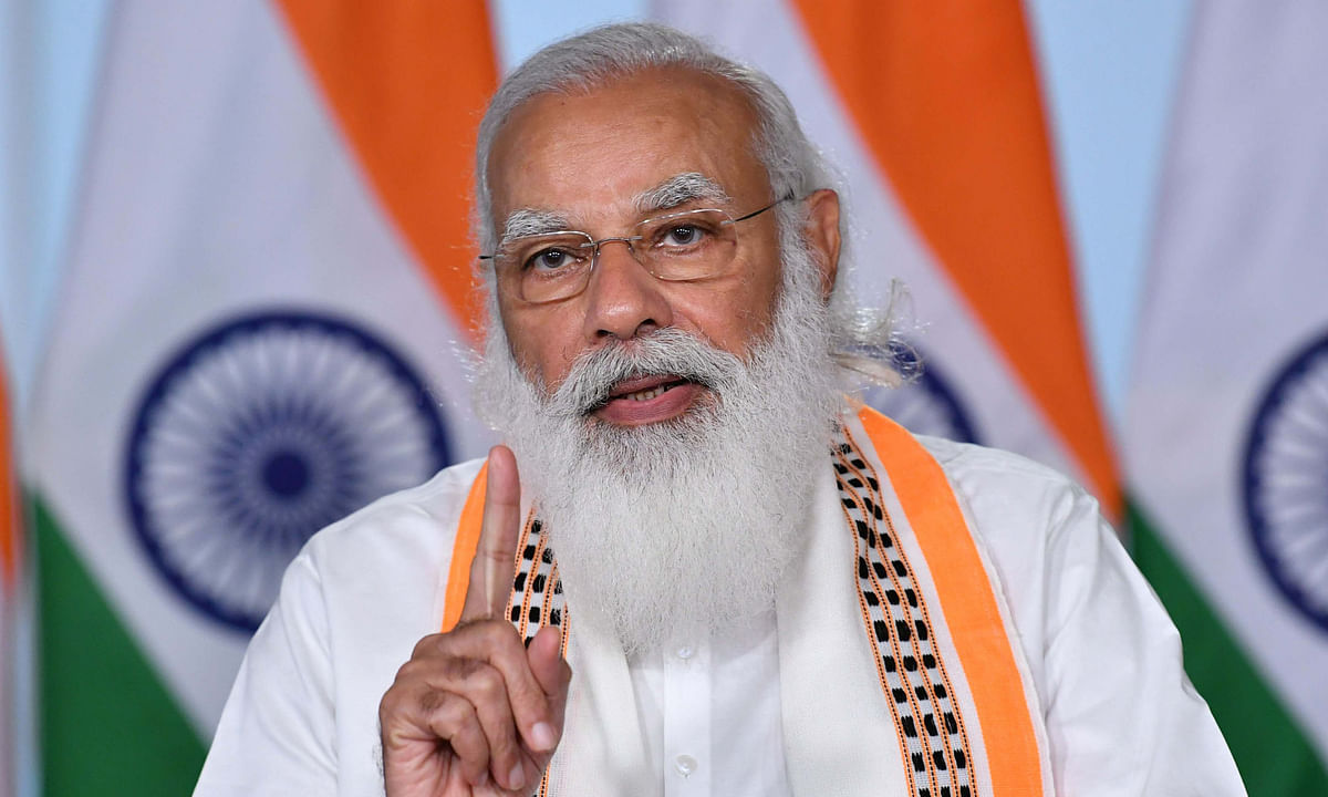 Prime Minister Narendra Modi speaking at the inauguration of the India Toy Fair 2021, through video conferencing, in New Delhi on February 27, 2021.