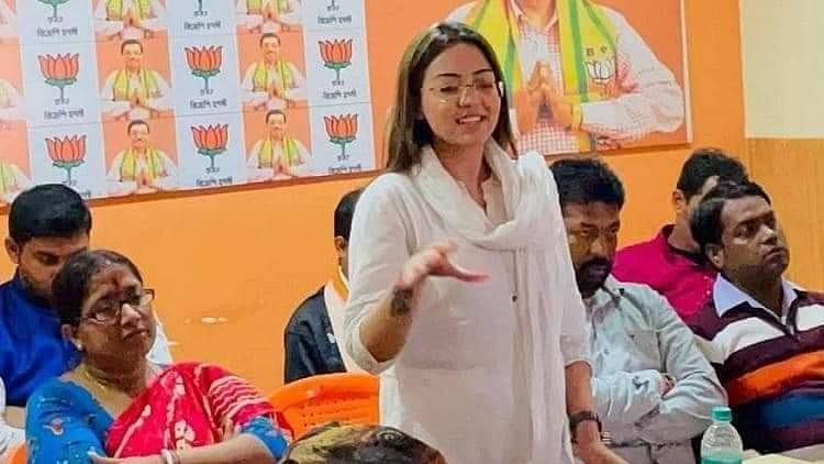 BJP youth leader Pamela Goswami arrested in Kolkata with drugs worth Rs 10 lakh