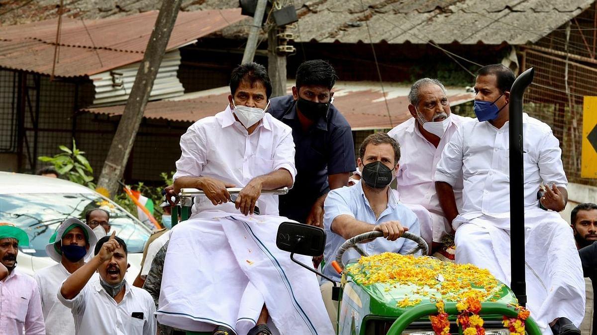 Kerala: Huge turnout as Rahul Gandhi leads tractor rally at Wayanad