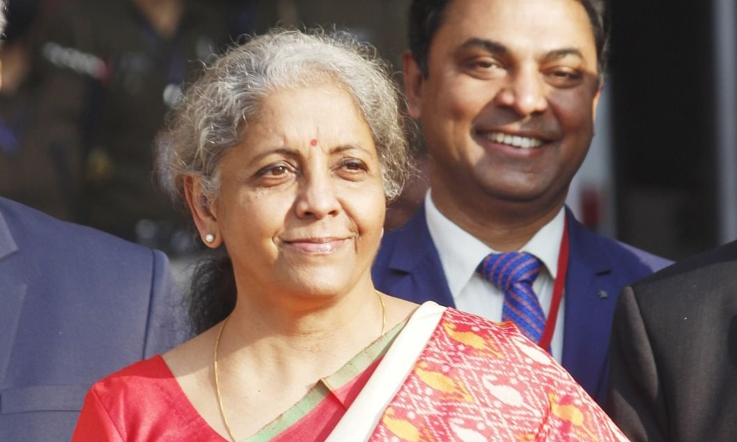 Finance Minister Nirmala Sitharaman ahead of presenting the Union Budget for 2021-22, in New Delhi, on February 1, 2021.