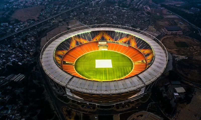 The Narendra Modi Stadium in Ahmedabad.