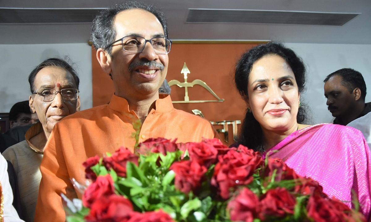 Uddhav Thackery and his wife Rashmi Thackeray