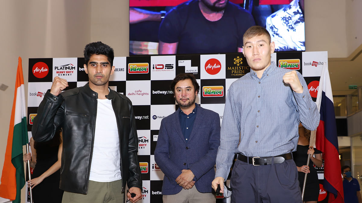 "Boxing: Vijender Singh to take on Russian Artysh Lopsan in ""Battle on Ship"" in Goa"