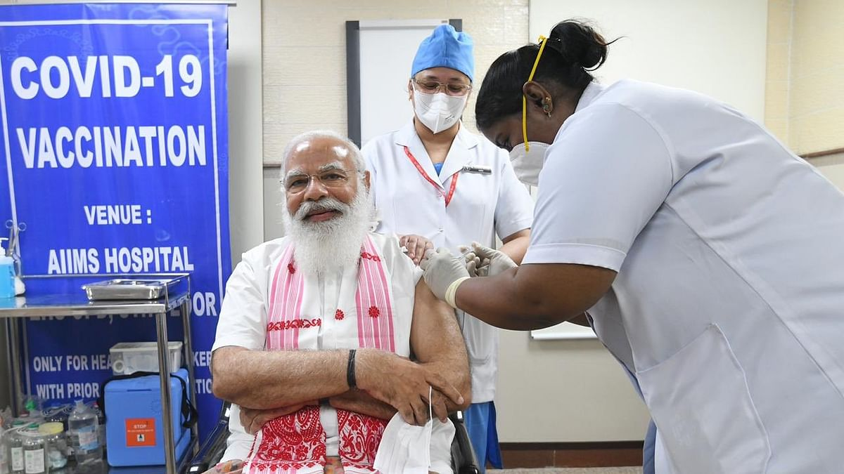 Modi takes first dose of COVID-19 vaccine as next phase of vaccination drive begins across India