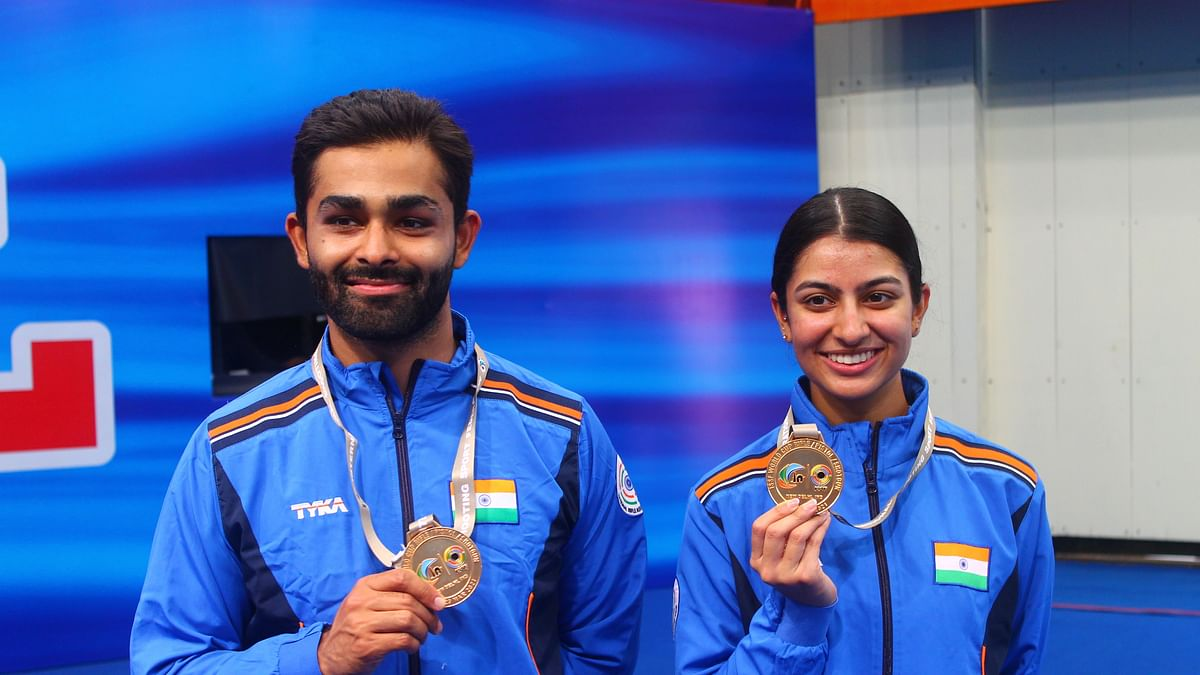 Shooting World Cup: Angad Bajwa, Ganemat Sekhon win gold in Skeet Mixed Team