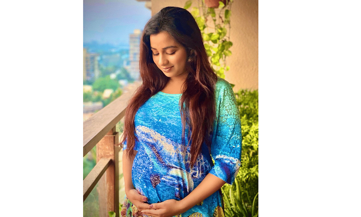 Shreya Ghoshal in a picture she posted on Instagram, announcing her pregnancy.