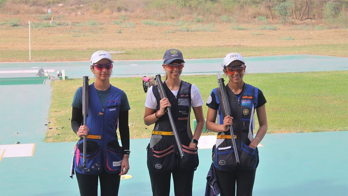 Shooting World Cup: India mixed pairs and a trio win three more gold medals