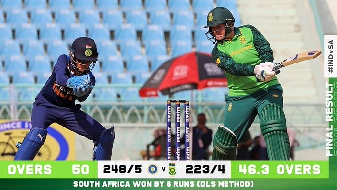3rd ODI: Lee scores 132 as South Africa beat India by DLS method