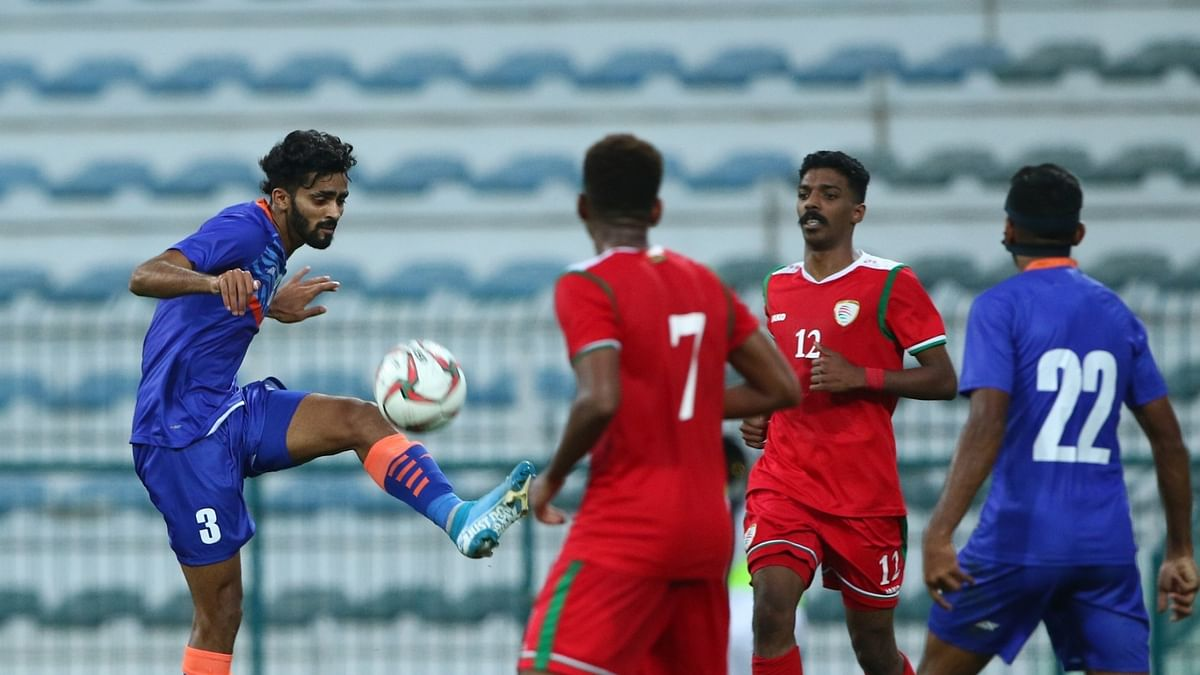 Manvir header ensures 1-1 draw for India against Oman