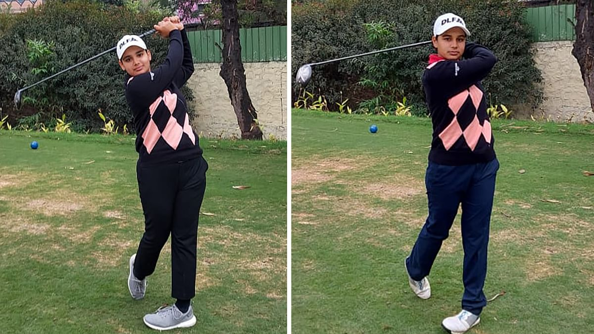 Golf: Jahanvi leads the field, younger sister Hitaashee is close behind in 5th leg of Hero WPGT