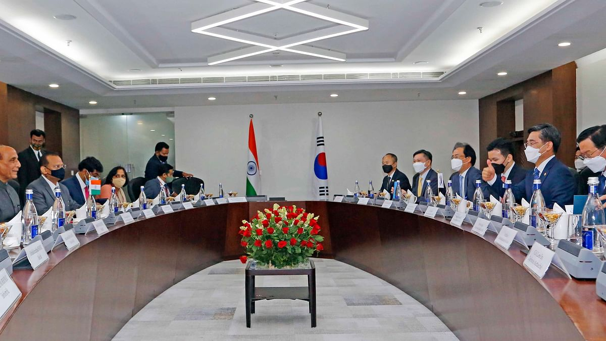 Rajnath Singh holds talks with his Korean counterpart Suh Wook