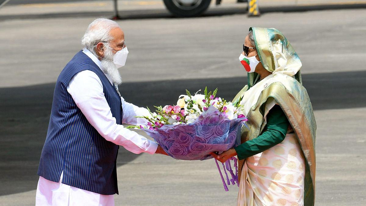 Modi arrives in Dhaka on two-day visit to Bangladesh