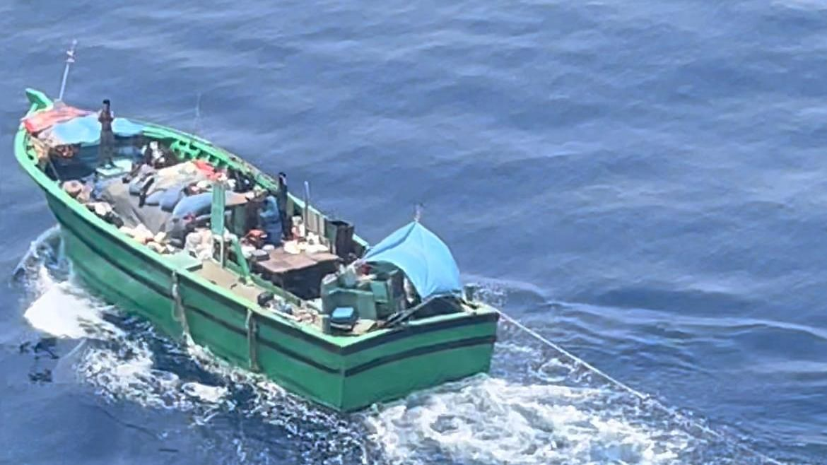 Indian Coast Guard locates missing fishing boat Mercedes at high sea