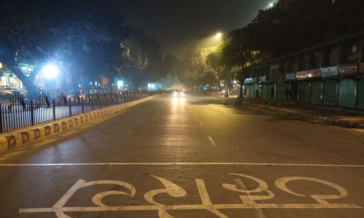 File photo of a night in Delhi