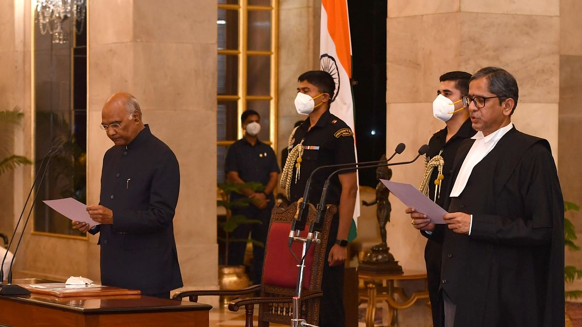 Justice N V Ramana takes over as Chief Justice of India