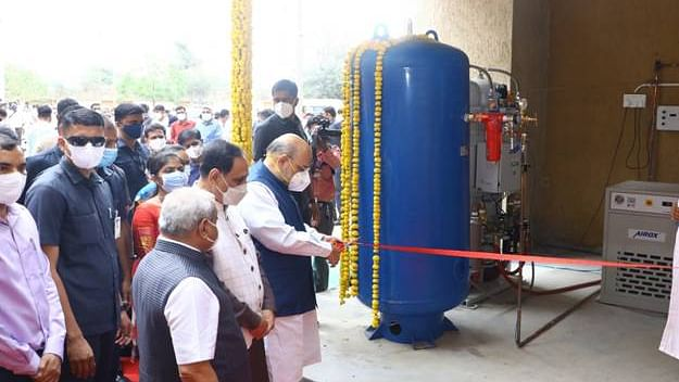 Amit Shah inaugurates oxygen plant at hospital in Gujarat