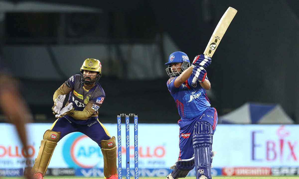Prithvi Shaw of Delhi Capitals in action during their match against Kolkata Knight Riders in the Vivo Indian Premier League at the Narendra Modi Stadium in Ahmedabad on April 29, 2021.
