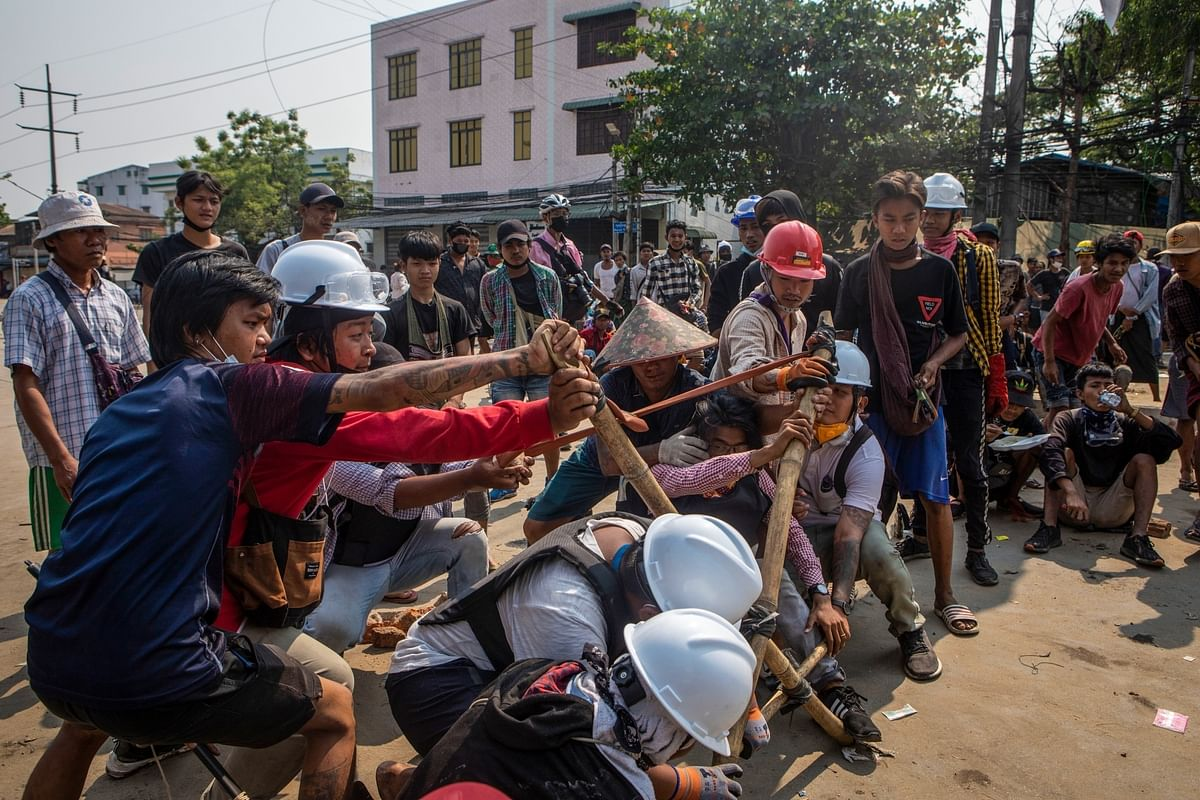 5 dead in Myanmar as crackdown on protests continue