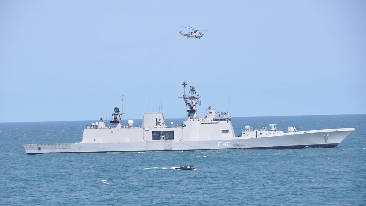 Indian Navy ships and aircraft participate in exercise La Perouse