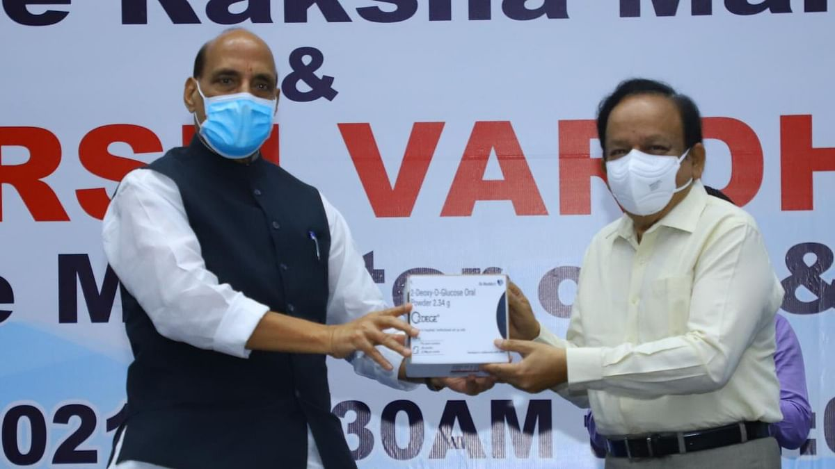 Rajnath launches DRDO's anti-COVID drug 2-DG