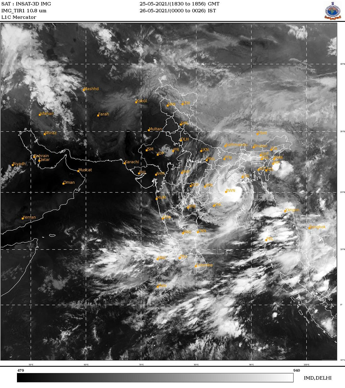 Cyclone Yaas to cross north Odisha-West Bengal coasts around noon on Wednesday