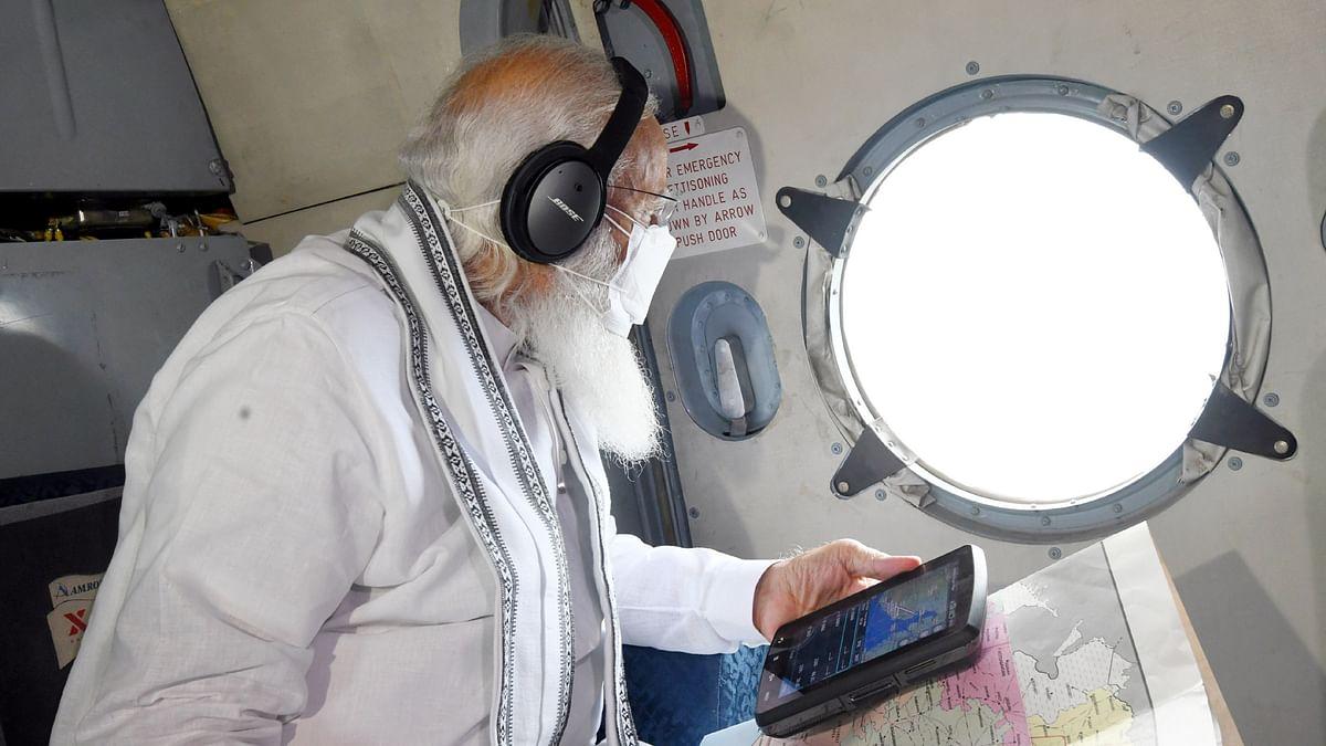 Modi undertakes aerial survey of cyclone-hit areas of  Gujarat, Diu