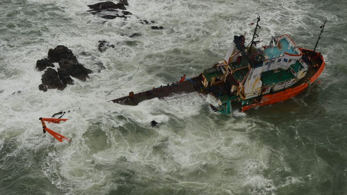 Indian Navy deploys three ships to rescue 410 stranded on barges