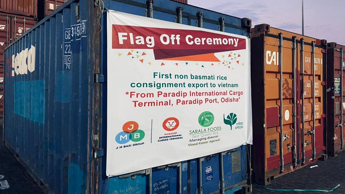 First consignment of non-Basmati rice exports to Vietnam flagged off from Paradip port