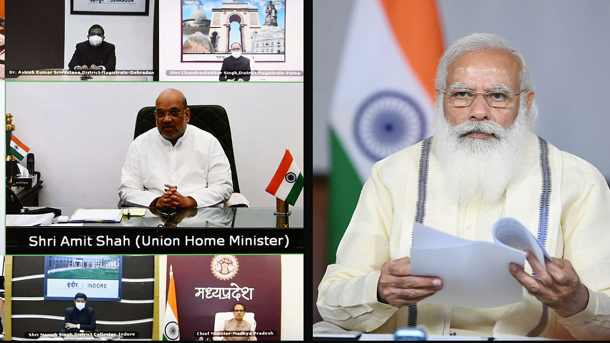 Modi Interacts with State and District Officials on COVID-19 situation