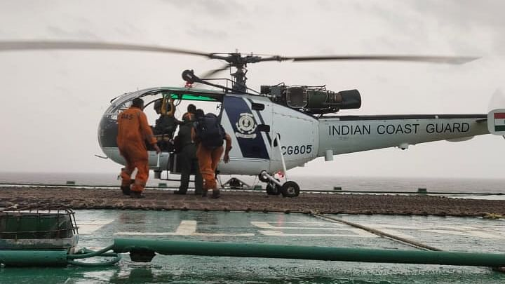 Indian Navy, Coast Guard rescue 317 from barges in Arabian Sea