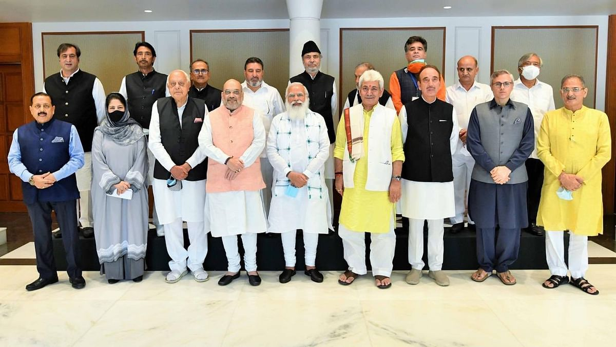 PM's first meeting with J&K leaders after abrogation of Article 370 begins