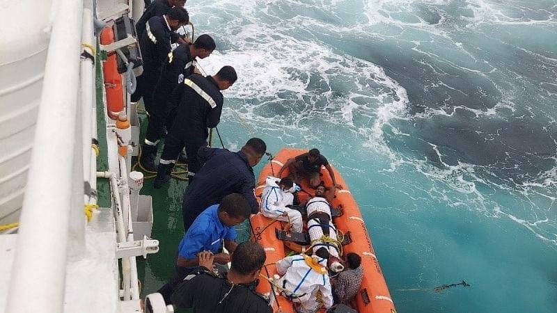 Coast Guard rescues nine crew members from sinking vessel Ganga-I off Cinque Island