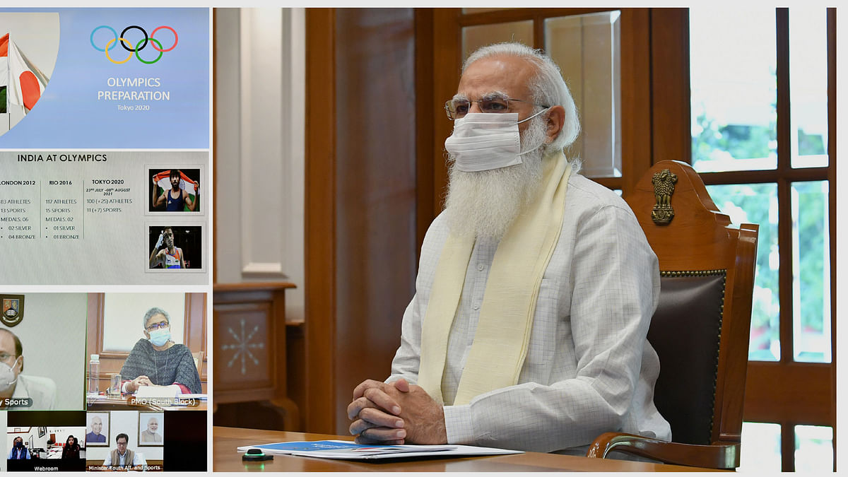 Modi chairs a meeting to review preparations for the Olympics
