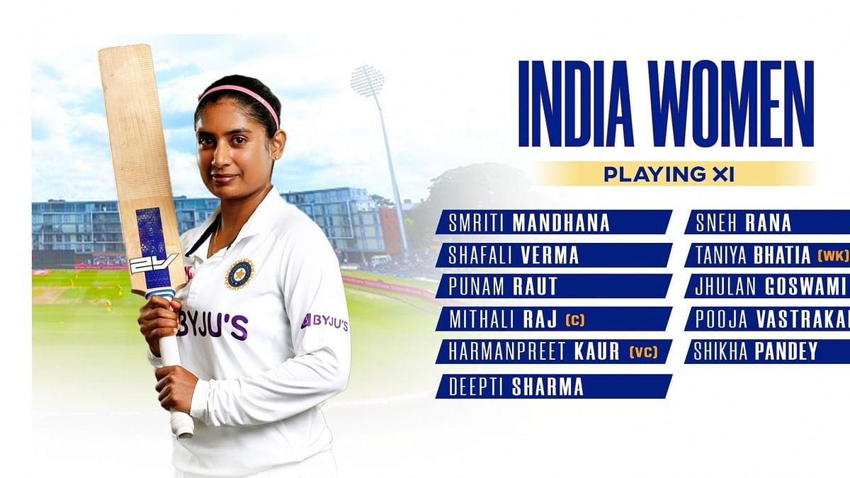 Indian women's team fields 5 debutants as England elect to bat