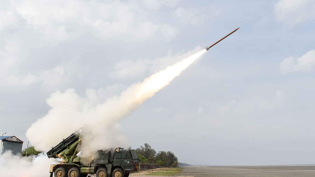 DRDO successfully test-fires Enhanced Pinaka Rocket