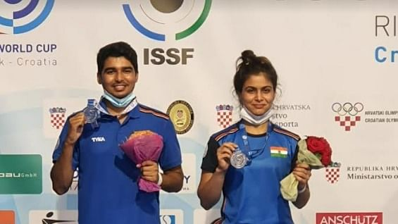 World Cup: Manu, Chaudhary clinch silver in mixed 10m air pistol