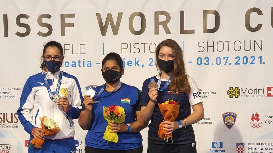 Rahi Sarnobat wins gold at Shooting World Cup