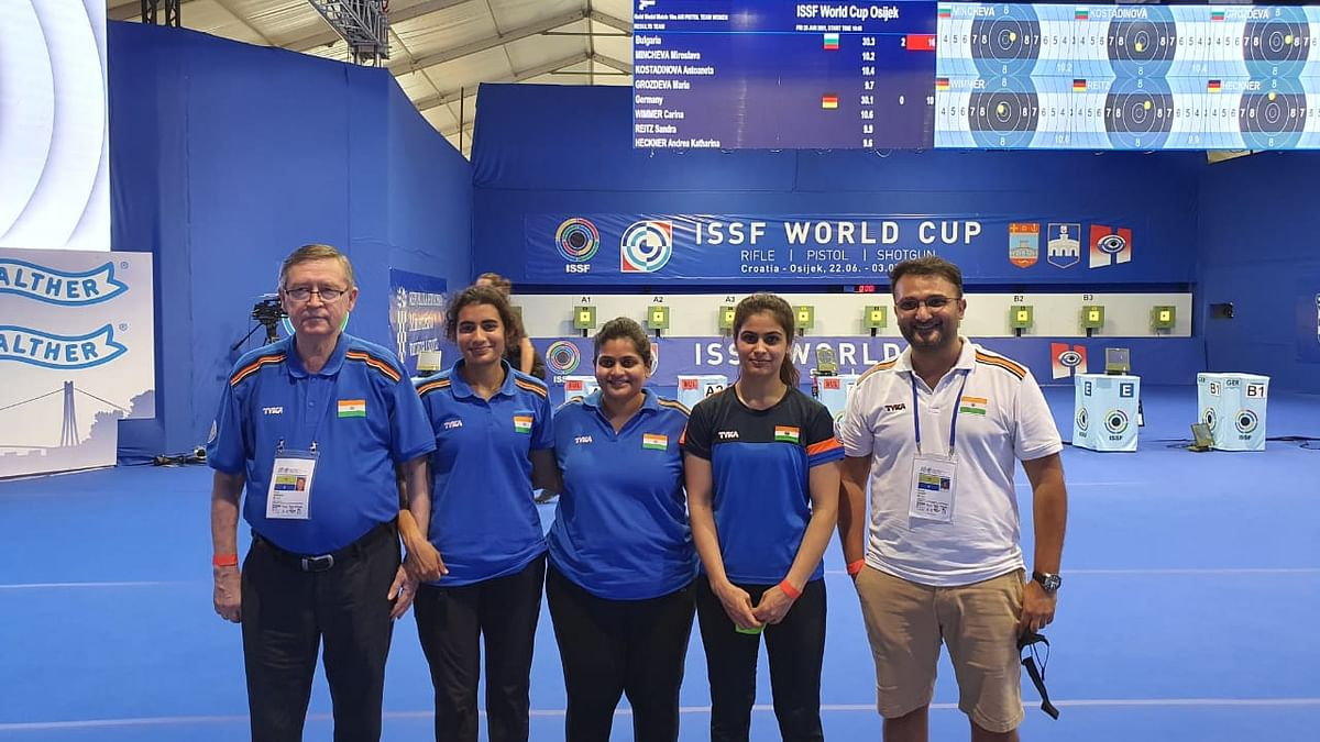 Women's 10M Air Pistol team clinch second medal for India at Shooting World Cup