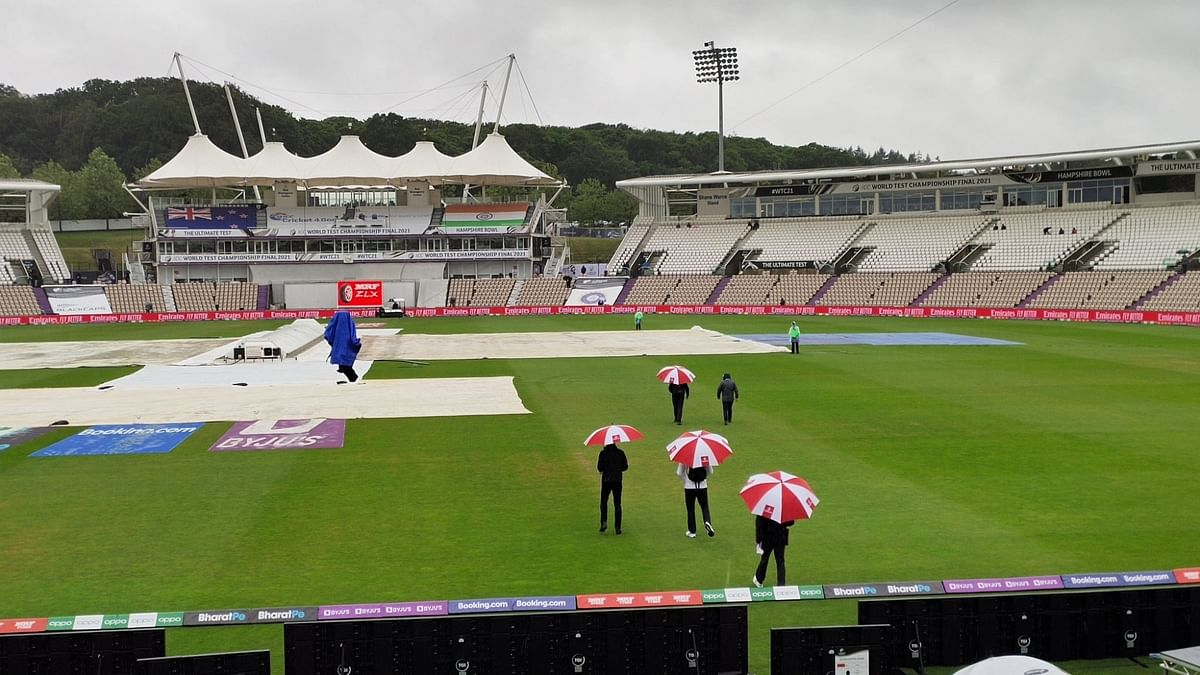 WTC final: Rain stops, umpires to inspect field at 7.30 pm IST