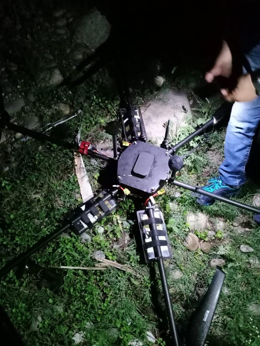IED-loaded drone shot down in J&K
