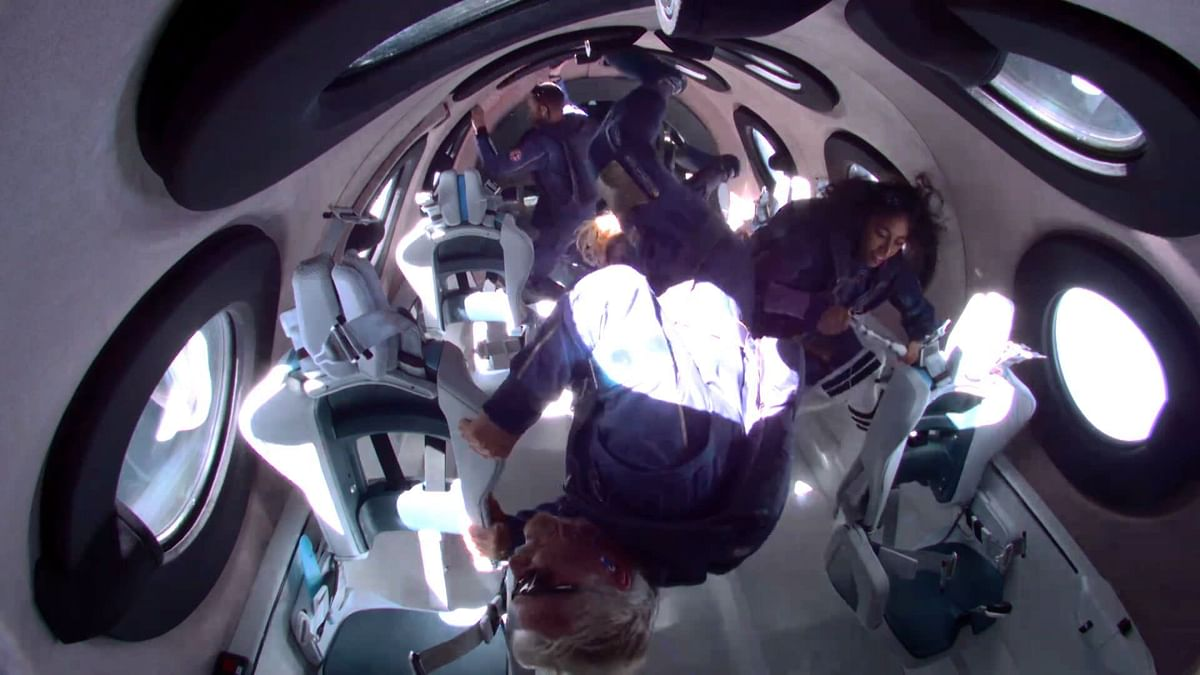 Richard Branson safely back to earth after touching edge of space