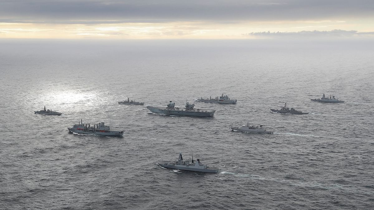 UK Carrier Strike Group reaches Indian Ocean region on its way to India