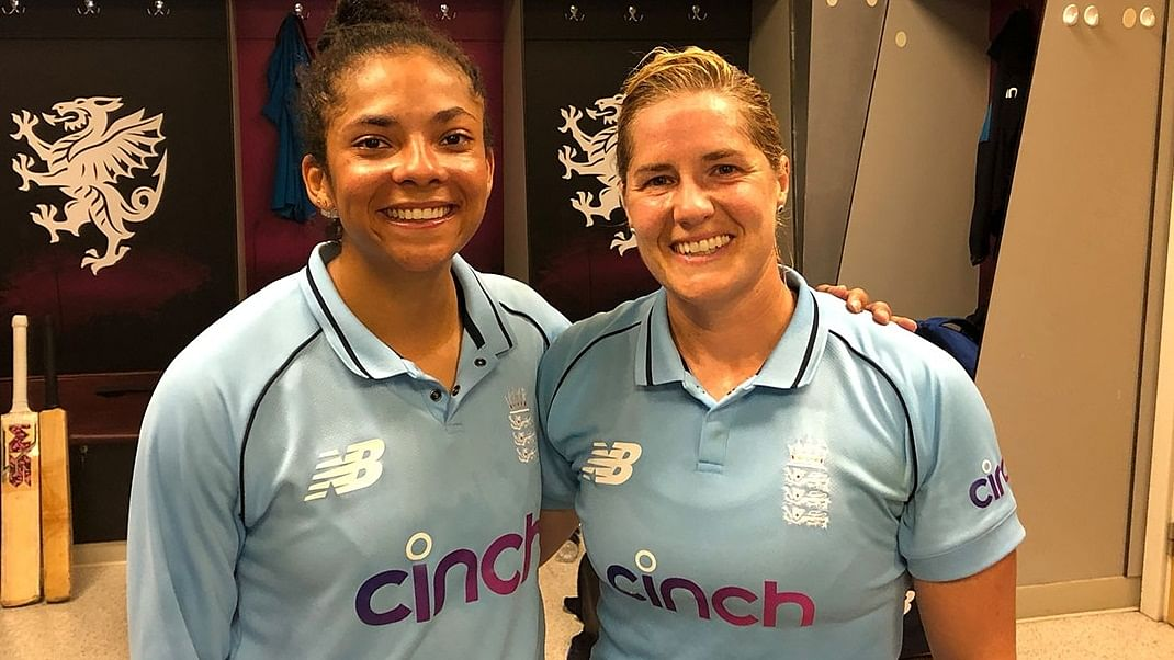 Sophia Dunkley powers England women to series win over India