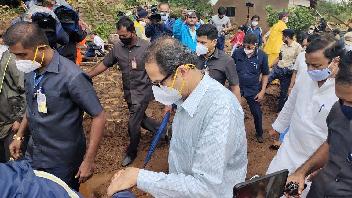 Taliye hillslide washout: Thackeray wipes tears of dazed survivors