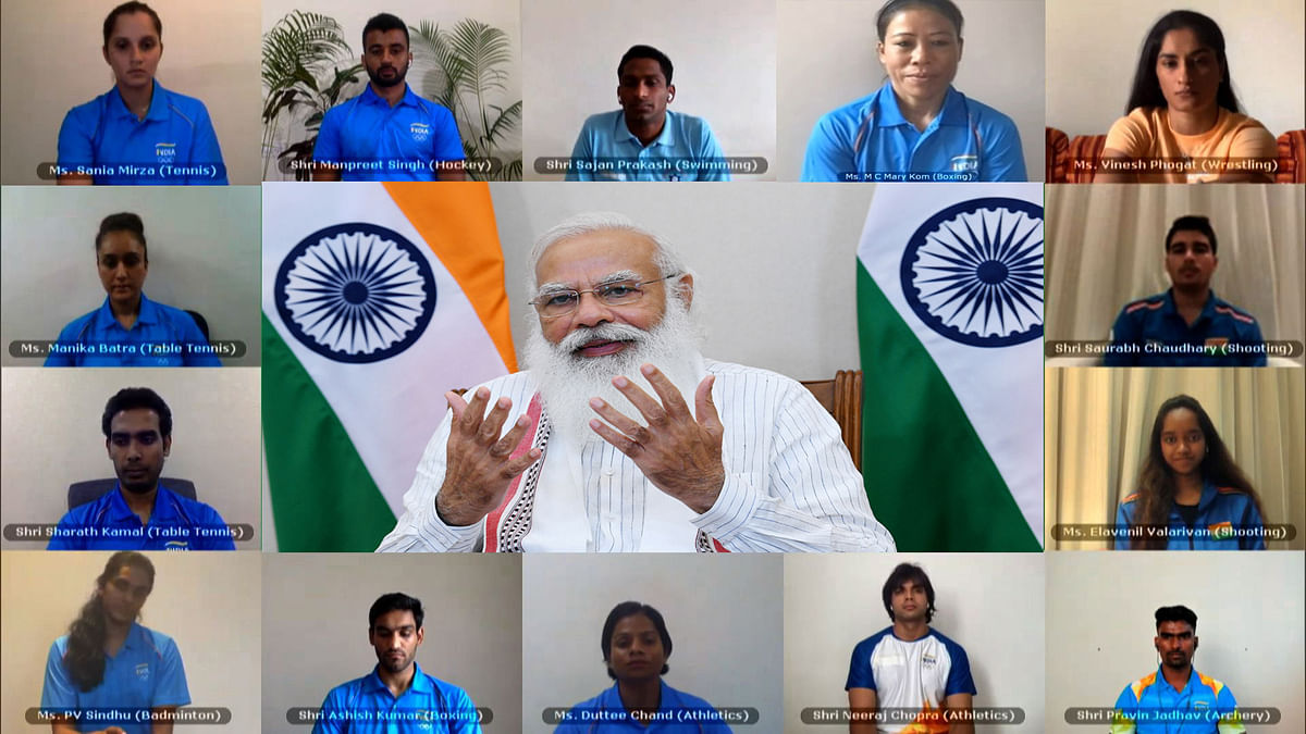 Modi exhorts Tokyo-bound sportspersons to give their best, says entire nation is behind them
