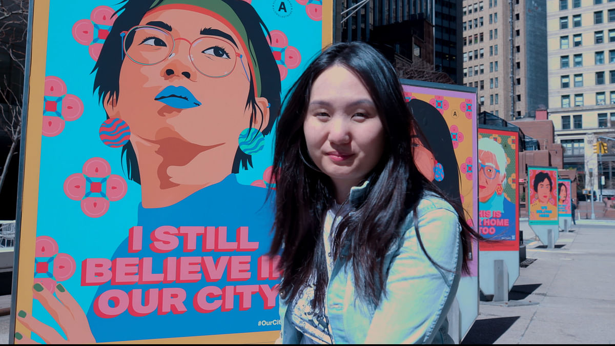 I Still Believe in NYC: Public Art against Anti-Asian Discrimination